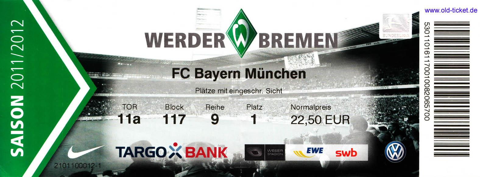 Werder Schalke Tickets